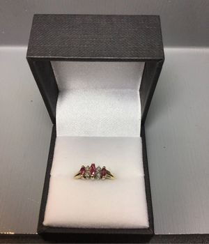 10k gold pink stone ring for Sale in Evanston, IL