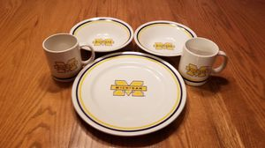 University of Michigan 5pc Dinner Set for Sale in Lebanon, OH