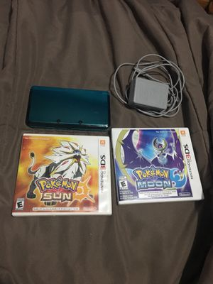 Nintendo 3ds with Pokémon sun and moon for Sale in Brooklyn, OH