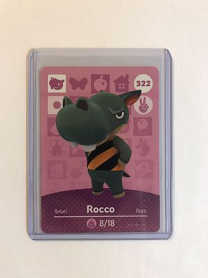 Animal Crossing Amiibo card Rocco 322 for Sale in Boston, MA