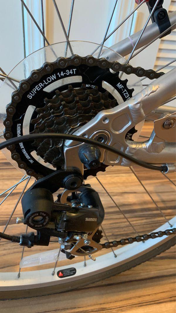 "Women's Silver Elegant Schwinn ""Voyageur 7"" Comfort Bicycle Shimano"