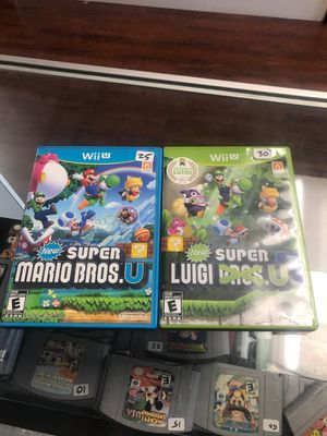 New super Mario Bros u bundle for Sale in Los Angeles, CA