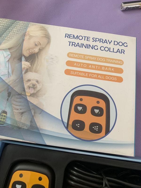 Citronella Spray Dog Training Collar with Remote Control,2 Modes Spray Dog Bark Collar (Not Included Citronella Spray),500 ft Range No Electric Shock
