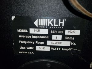 Klh140 watt rms speakers in great shape and a small silverstone guitar amplifier for Sale in Sunbury, OH