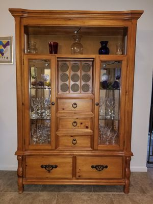 China Cabinet Lighted Glass Display Case for Sale in Tempe, AZ