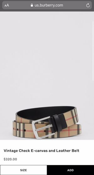 Burberry - Vintage Check E-canvas and Leather Belt for Sale in Inglewood, CA