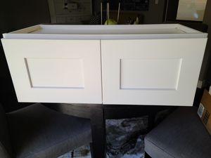 Over-Fridge White Shaker Cabinet 30x12x12 for Sale in Seattle, WA