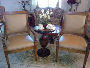 Beautiful antique King Charles chairs with table. for Sale in North Las Vegas, NV