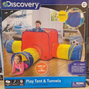 Play tunnel tent indoor outdoor with carrying bag for Sale in Fairfield, CA