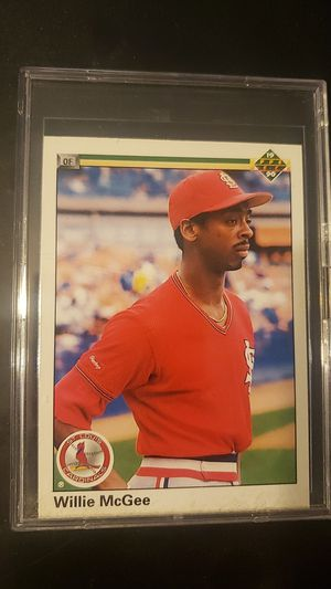 Willie Mcgee Baseball Card for Sale in Houston, TX