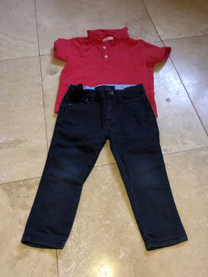 Boys pants and polo shirt size 2T for Sale in Dearborn, MI