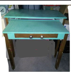 Antique desk with attached smaller desk with drawer that pulls out for Sale in Richmond, VA