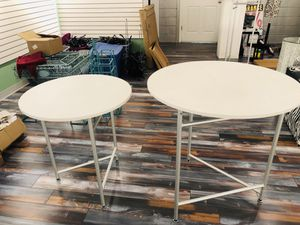 3 Round Nesting Tables. Perfect for displaying items! for Sale in Florissant, MO