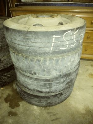 4 dually tires with rims for Sale in Arlington, TX