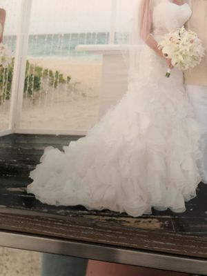 Amazing beaded tulle wedding, quinceanera or prom dress for Sale in Oakland Park, FL
