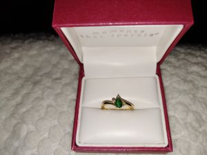 Genuine emerald and diamond ring for Sale in Flower Mound, TX
