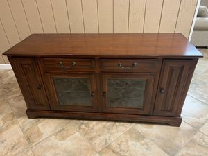 Solid wood TV stand for Sale in Colonie, NY