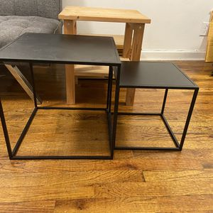 Nesting Black Metal Tables for Sale in Brooklyn, NY