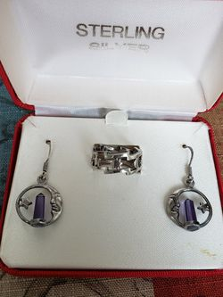 Sterling Silver 925. Earrings,ring for Sale in Houston,  TX