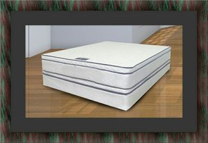 Queen mattress double pillow top with box spring for Sale in Alexandria, VA