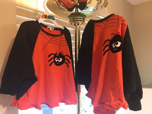 Halloween spider twin shirts