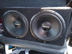 Rockford Fosgate 2 12 subwoofers 1500 watt amp for Sale in Phoenix, AZ