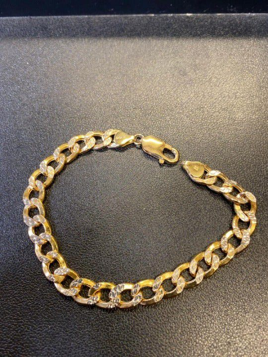 10K Yellow & White Gold Cuban Bracelet