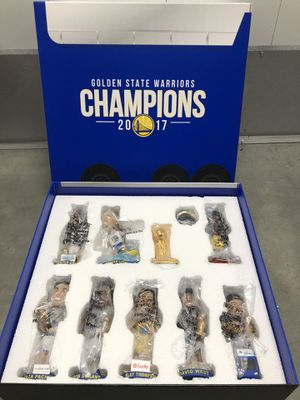 Golden State Warriors 2017-18 Bobblehead Set NBA Champions *NEW AND UNOPENED * for Sale in Hayward, CA