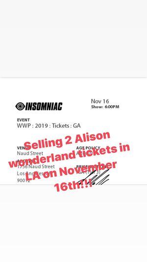 ALISON WONDERLAND for Sale in Lodi, CA