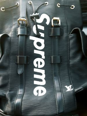 Supreme & Louis Vuitton- Christopher leather backpack! for Sale in Austin, TX
