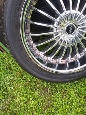 22's Chrome rims $600 (all 4 rims & tires) for Sale in San Antonio, TX