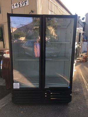 2 doors glass commercial cooler everything is good working condition 90 days warranty delivery and installation l for Sale in San Leandro, CA