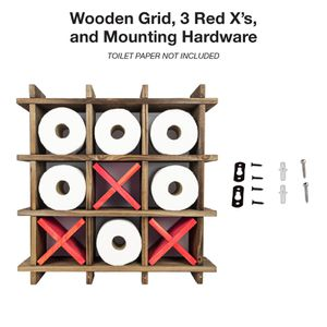 NEW Tic Tac Toe Toilet Paper Holder Bathroom Storage for Sale in Jersey City, NJ