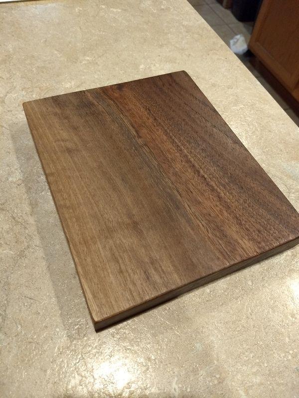 Black walnut wood cheeseboard w/ food-safe mineral oil wax finish