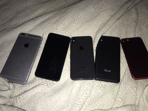 Six phones! iPhone X, iPhone 7, iPhone 6s, LG, blade, Samsung S8, some locked, mostly good condition for Sale in Seattle, WA