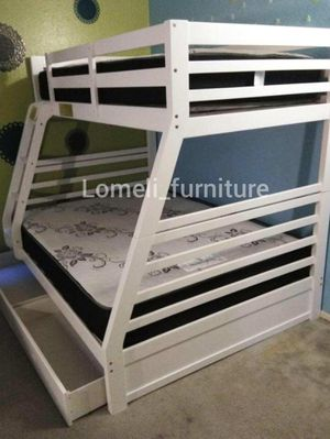 Twin/full bunk beds with mattress included for Sale in Montclair, CA