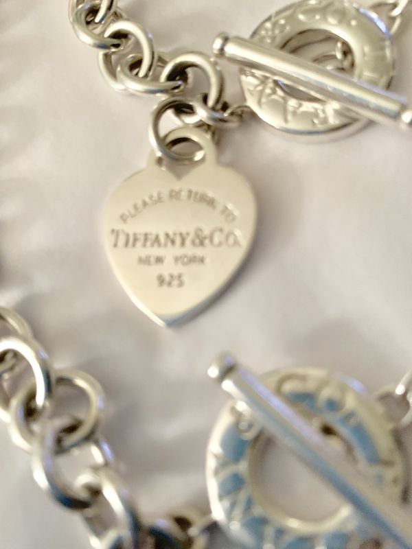 """Please Return to Tiffany & Co"" Heart Toggle Bracelet & Necklace Set"