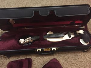 Electric violin white for Sale in Fresno, CA