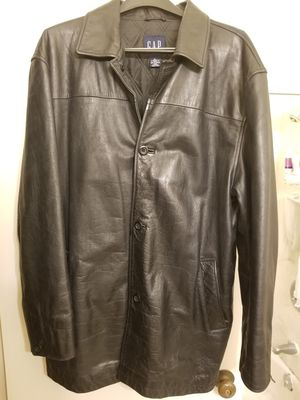 GAP Brand Genuine Leather Jacket - size XXL for Sale in San Francisco, CA