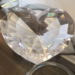 "❤️Acrylic Faceted Heart 3x4"" - great for Valentines Day! ❤️ It has a built-in stand on the back that props it forward. for Sale in Lexington, KY"
