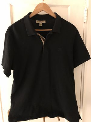 Burberry Check Placket cotton polo shirt for Sale in Washington, DC