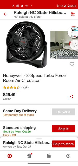 Fan Honeywell for Sale in Brentwood, NC