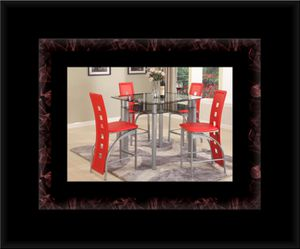 Red counter height table with 4 chairs for Sale in Manassas, VA