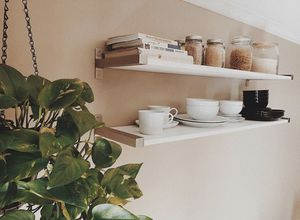 White Wall Shelves with Stainless Steel Brackets for Sale in Phoenix, AZ