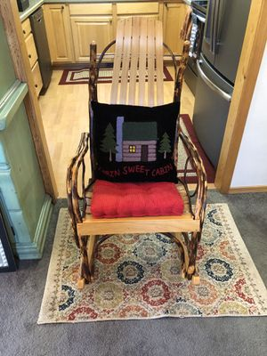 Wood log Rocking chair for Sale in Whiteriver, AZ