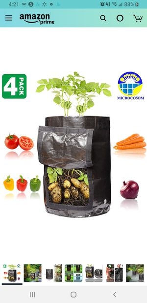 New in sealed box, Potato Vegetable Planter Grow Bags 10 Gallon with Handles and Easy to Open Access Flap, Potato Vegetable Planter Grow Bag for Sale in Tustin, CA