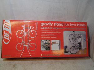 2 Bikes Gravity Stand Bicycle Wall Mount Storage Rack Home Garage Delta 80 Lbs for Sale in Upper Darby, PA