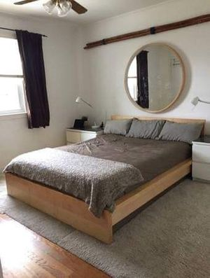 """LARGE IKEA ANES MIRROR, ASH VENEER COLOR 42"""" (discontinued) for Sale in Rockville, MD"""