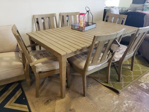New 7pc outdoor patio furniture dining room table set tax included for Sale in Hayward, CA