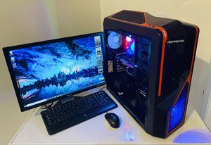 """Gigabyte Gaming EightCore AMD@ 4 GHz, 3 Display Ready. NVidia GTX 1050 4G, 500 HDD, 8GB RAM, 14USB, WIFI, 22"""" DELL Monit/Keyb/Mouse, Win10 Pro for Sale in Plantation, FL"""